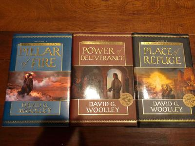 David Woolley (3) Pc Book Set ~ Pillar of Fire~Power of Deliverance~Place of Refuge