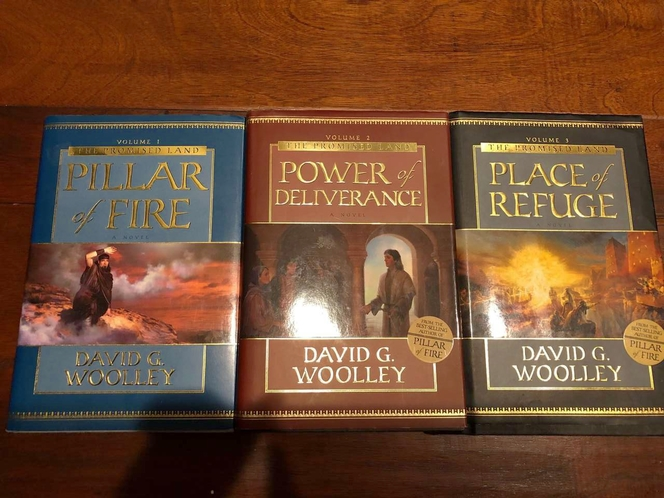 David Woolley (3) Pc Book Set ~ Pillar of Fire~Power of Deliverance~Place of Refuge for sale in Murray , UT