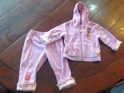 Girls Disney 18M Minnie Mouse Fleece Set