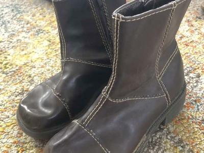 Girls Brown Fashion Boots Size 12.5