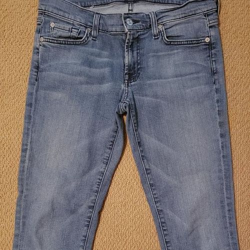 7 for all mankind  skinny cropped jeans size 28 for sale in Salt Lake City , UT