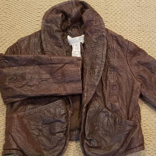 ANTHROPOLOGIE  CROPPED LEATHER JACKET SZ XS for sale in Salt Lake City , UT
