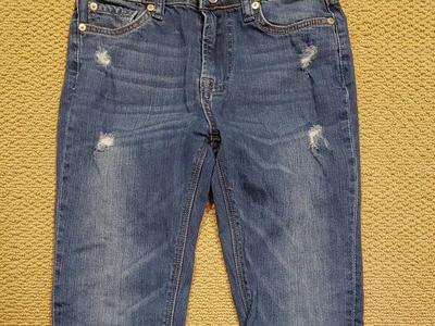 NWOT CHILDS 7 FORALLMANKIND DISTRESSED JEANS SZ 10