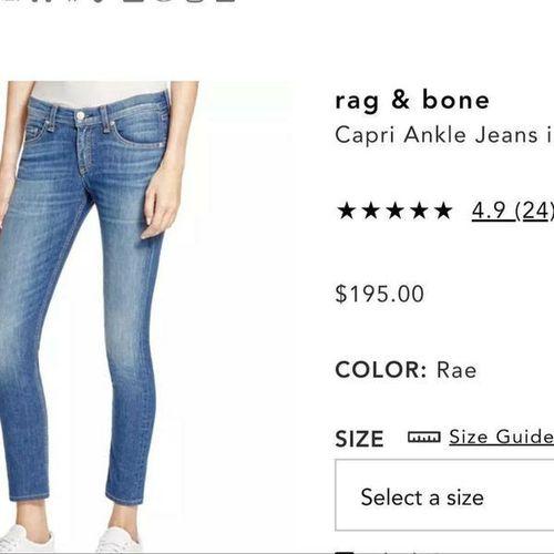 RAG & BONE WOMENS DISTRESSED JEANS SZ 28 for sale in Salt Lake City , UT