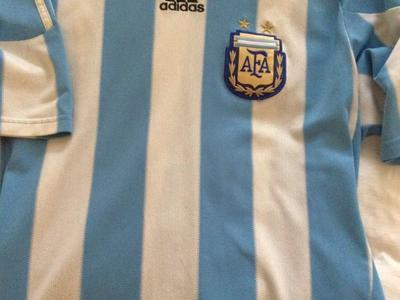 Argentina Jersey Used Jersey Size Large