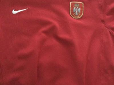 Used Serbia Soccer Jersey Size large
