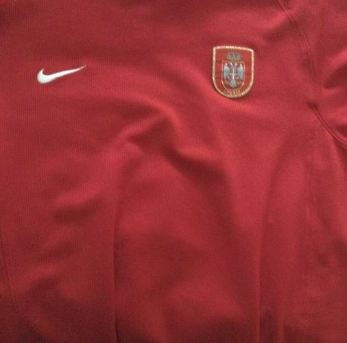 Used Serbia Soccer Jersey Size large  for sale in Salt Lake City , UT