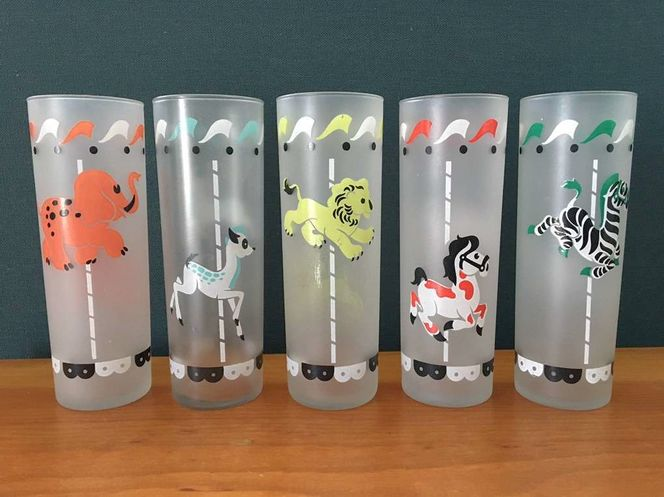 Vintage Carousel Collins Glasses Mid Century for sale in Midvale , UT