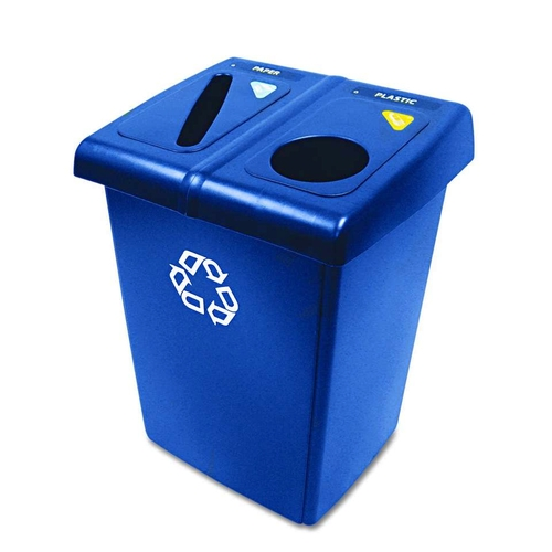 NEW Rubbermaid 46-gal Recycling Trash Can Stations 2-Stream Garbage each is 23-gal Commercial Plastic Heavy DUTY NIB for sale in West Jordan , UT