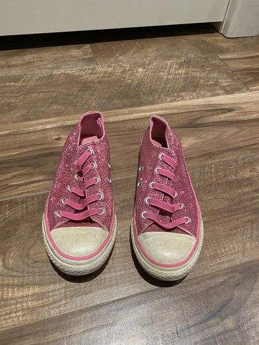 converse all star sparkly pink shoes youth 13 for sale in Murray , UT