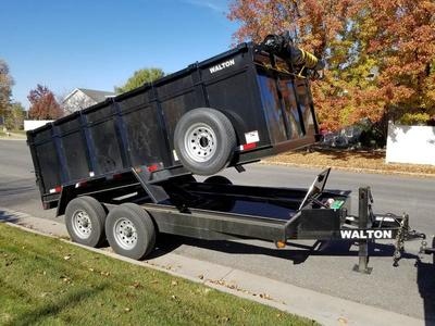New 7x14 Walton dump trailer with 48