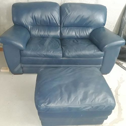 RC Willey blue love seat and ottoman for sale in West haven , UT