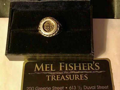 Mel Fisher Re-Creation Coin Ring