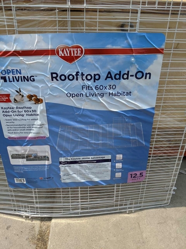Animal cage rooftop for 60 x 30 living habitat Kaytee New for sale in Riverton , UT