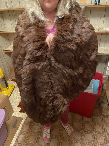 Brown Rabbit Stoll/Shawl 1960's-REDUCED for sale in Salina , UT