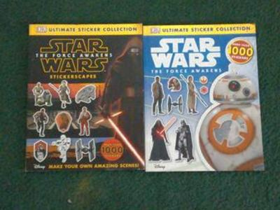 2 Star Wars Sticker Collection Books
