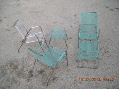 60s Vintage Brown Jordan pool side patio set
