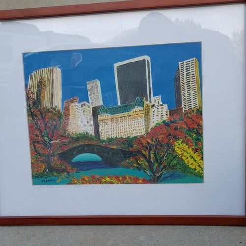 Limited Edition (27/60) City Scape by Seyo Cizmic for sale in Sandy , UT