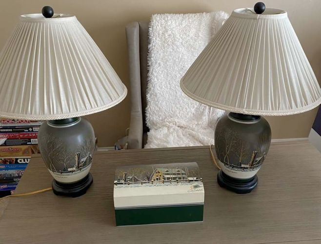 Bob Timberlake Lamps W/decorative Box for sale in Orem , UT