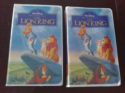 2 DISNEY LION KING VHS TAPES!