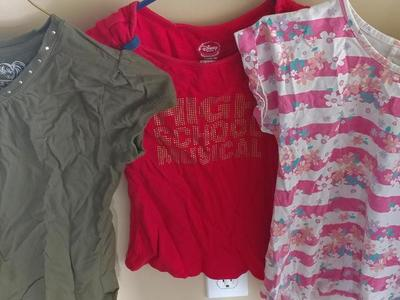 3 girls shirts size 7to8