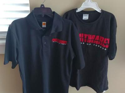 2 FRIGHTMARE LAGOON STAFF SHIRTS