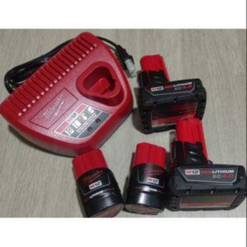 MILWAUKEE M12 BATTERIES & CHARGER