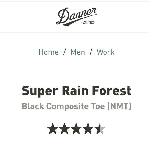 NEW Danner 11550 Super Rain Forest Size 13 D for sale in Price , UT