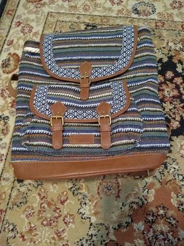 Beautiful Woven & Leather Satchel Backpack for sale in South Salt Lake , UT