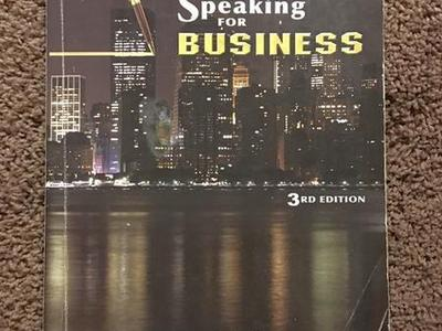 Writing And Speaking For Business 3rd Edition