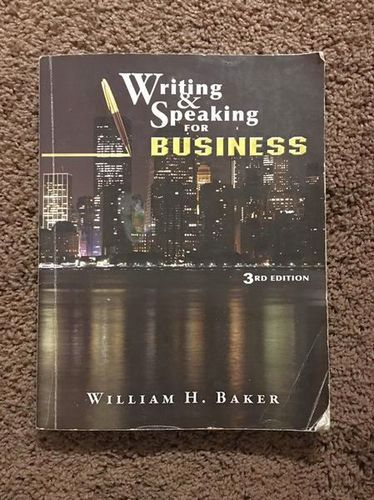Writing And Speaking For Business 3rd Edition for sale in Centerville , UT