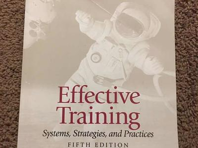 Effective Training: Systems, Strategies, Practices