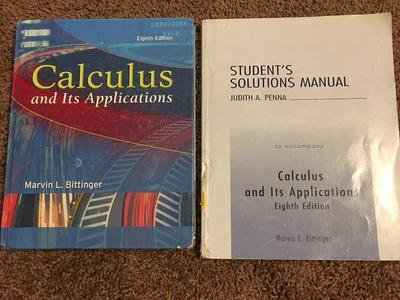 Calculus And It's Applications 8th Edition