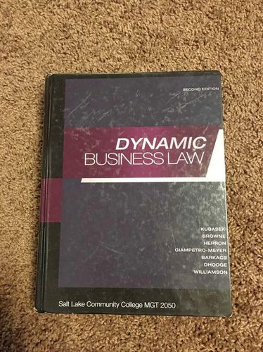 Dynamic Business Law 2nd Edition for sale in Centerville , UT