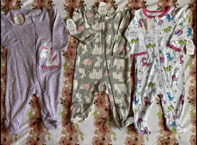 NEW 3 to 6 Month Old - Set of 3 Baby Girl Pajamas for sale in Kaysville , UT