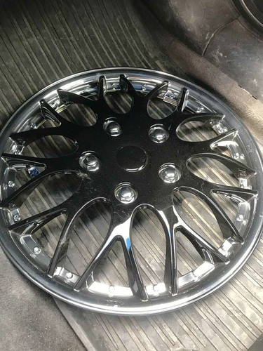 Black and chrome 16 inch hubcap for sale in Midvale , UT