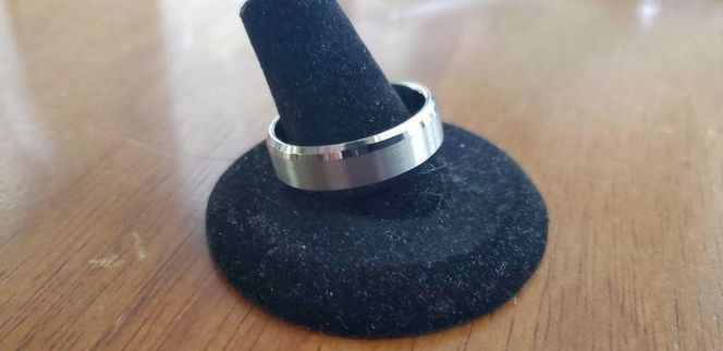 Polished Silver Tungsten Wedding Band - Size 12 for sale in Pleasant View , UT