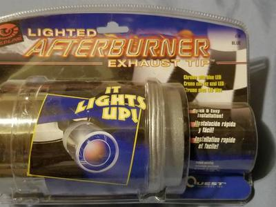 NEW Redline Lighted Afterburner Exhaust Tip Blue