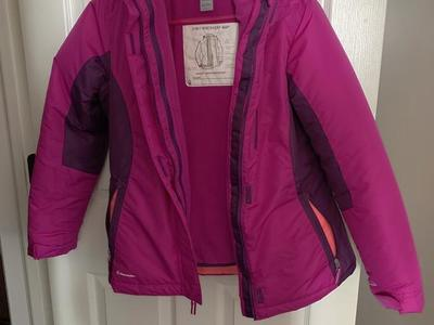 3 in 1 winter coat purple