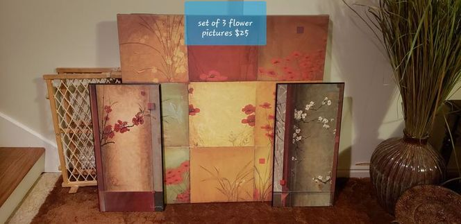 Set of 3 Flower Pictures for sale in Ogden , UT