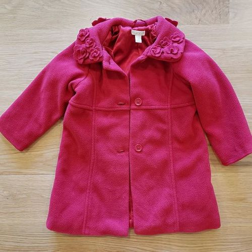 Cute Red Lined Winter Coat Toddler Girl size 3T for sale in Ogden , UT