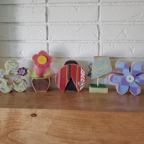 Summer Wood Decoration 5 Piece Set for sale in Ogden , UT