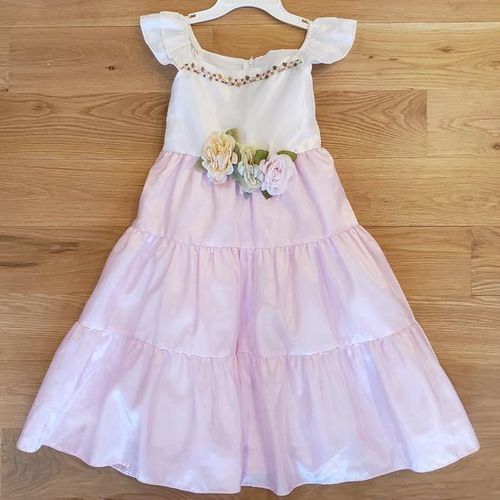 Beautiful Pink White Dress - size 7/8  for sale in Ogden , UT