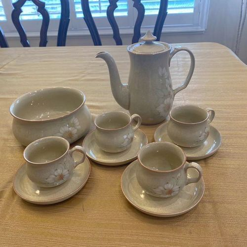 HANDCRAFTED Denby Coffee Pot Set W/ Serving Bowl  for sale in Bountiful , UT