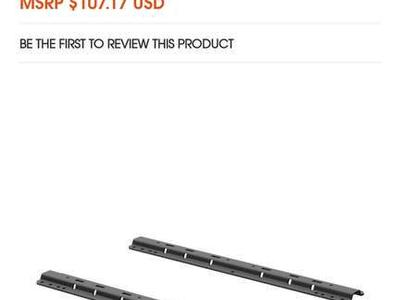 UNIVERSAL 5TH WHEEL BASE RAILS, 25K (CARBIDE BLACK) #16204
