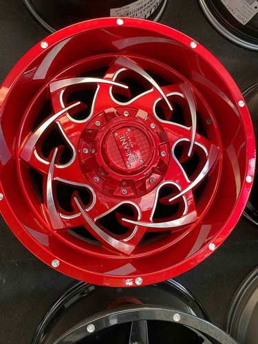 THIS IS A FULL SET OF BRAND NEW WHEELS INSANE  RED 20X10 . for sale in Salt Lake City , UT