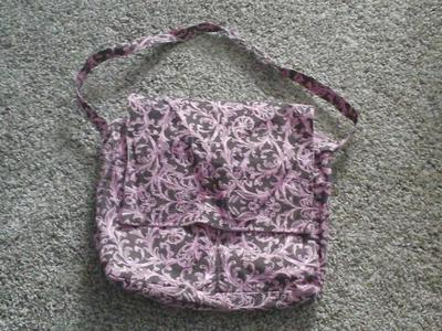 Cute pink and brown diaper bag