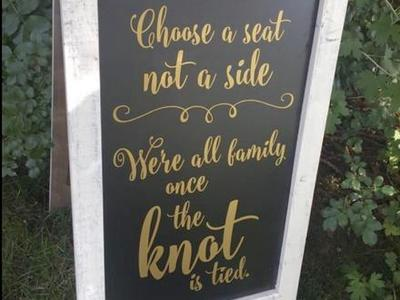 Double Sided Wedding Sign *Rental*