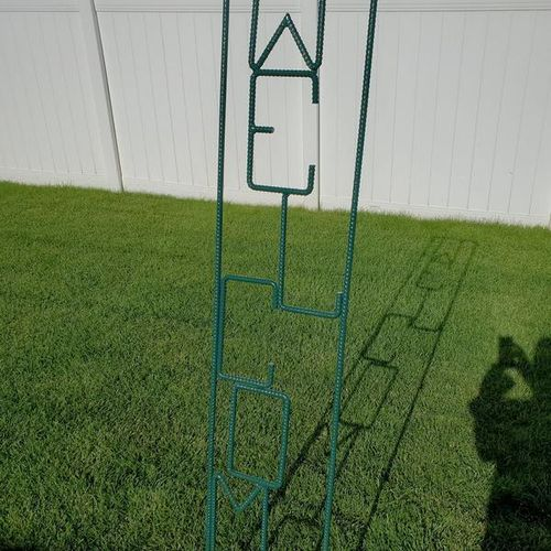 6 ft Rebar Welcome sign..price lowered for sale in Clearfield , UT