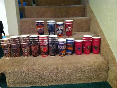 Miscellaneous plastic sports drinking cups $1.00
